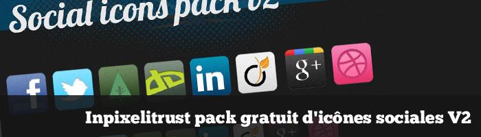 Inpixelitrust pack gratuit d'icônes sociales V2