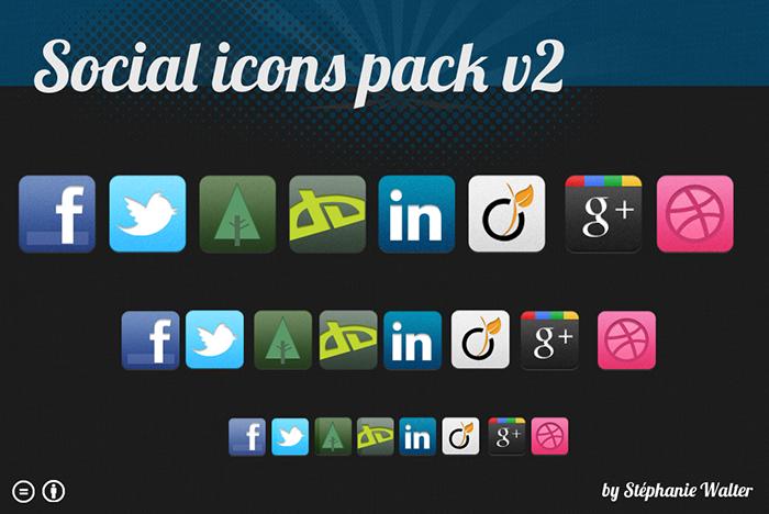 Pack d'icones social gratuite inpixelitrust