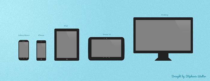 Template d'appareil mobile et desktop PSD