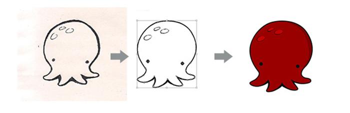 vectorisation de la mascotte