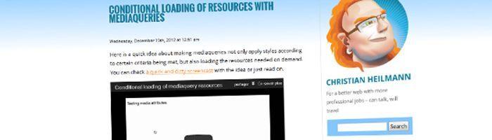 [mobile] Charger des ressources de manière conditionnelle avec matchmedia