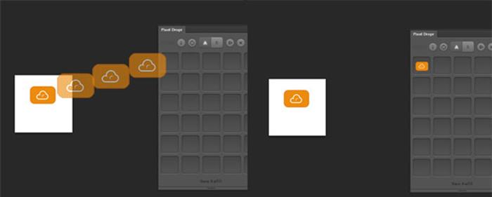 Pixel Dropr, glisser et déposer un symbole dans la librairie Photoshop