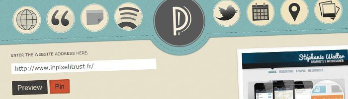 Outils de capture d'écran d'une page d'un site en entier et envoi sur Pinterest
