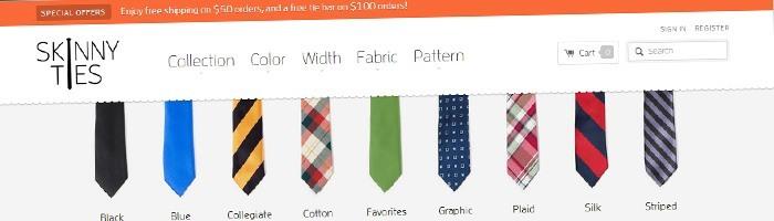 Skinny Ties: 211% de vente en plus grâce à son site responsive - chiffres et analyse