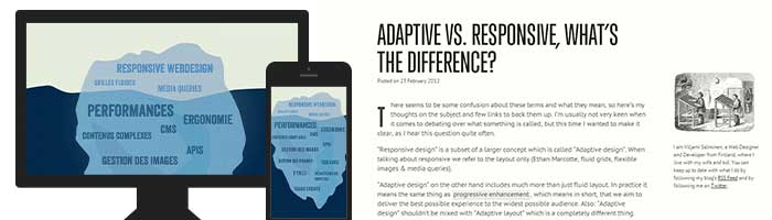 [Traduction] Adaptive VS Responsive Design : quelle est la différence ?