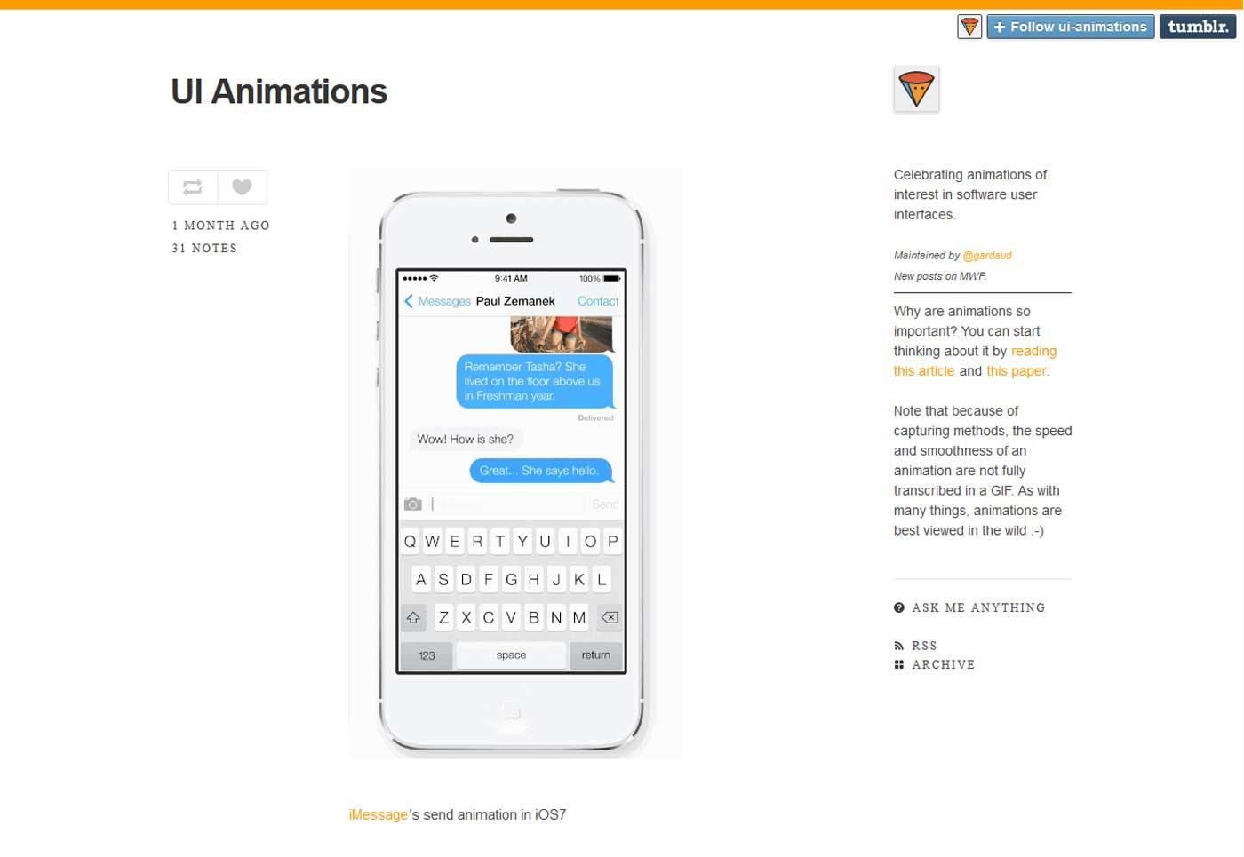 UI animations