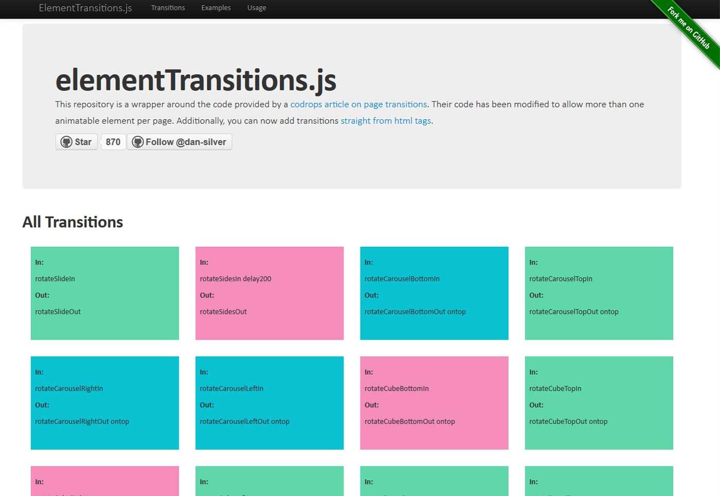 Element Transition JS