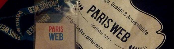 Paris Web 2013 - retour sur la première journée