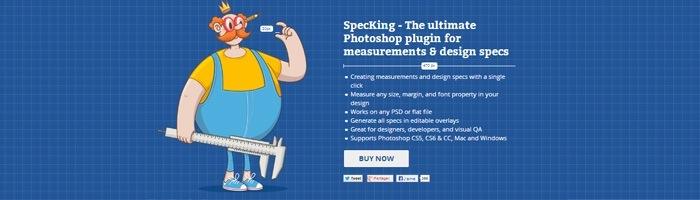 SpecKing, un plugin pour créer des spécifications dans Photoshop