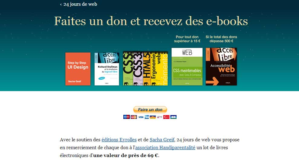 Faites un don et recevez des e-books