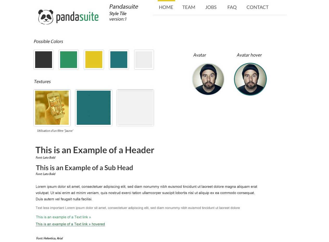 Pandasuite style tile
