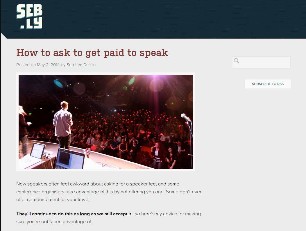 get paid speaker