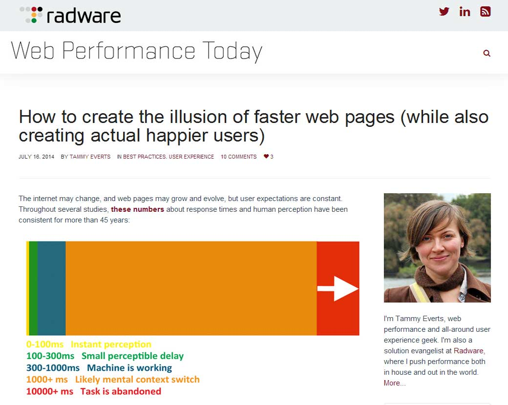 How to create the illusion of faster web pages (while also creating actual happier users)