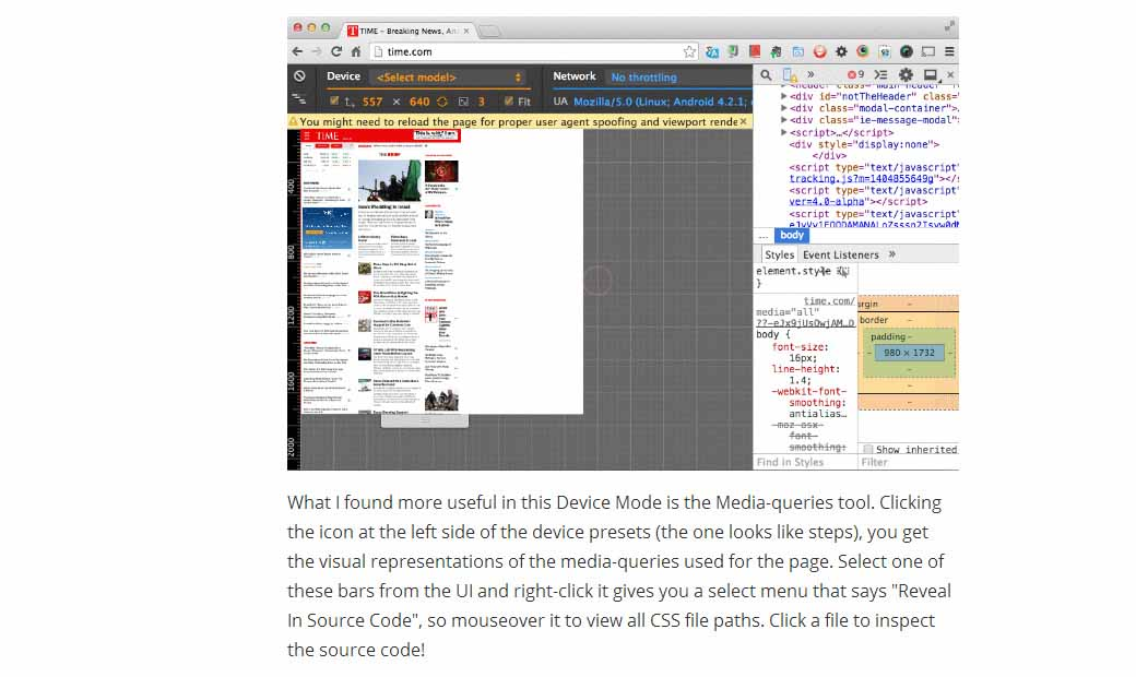 Responsive Web Made Easier with Chrome DevTools Device Mode