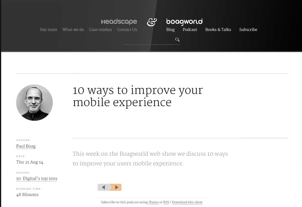 Improve mobile experience