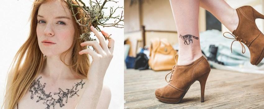 Illustration et tatouages temporaires : de jolies idées