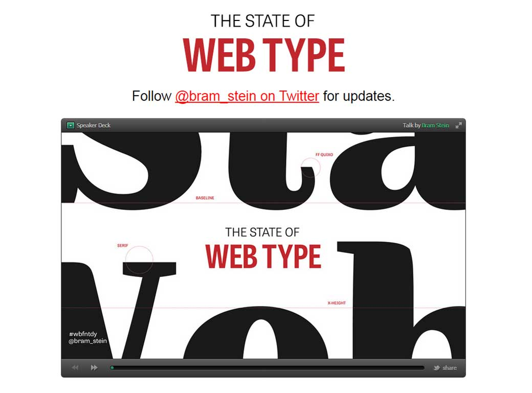 The State of Web Type