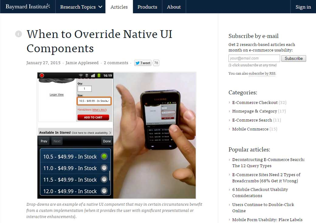 When to Override Native UI Components