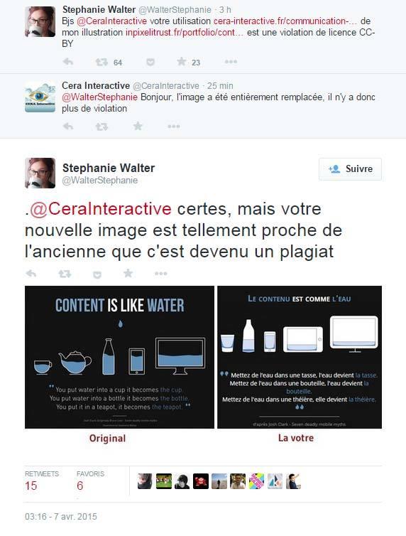 Réponse de Cera Interactive : plagiat de mon illustration et non respect de mon droit d'auteur