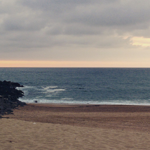 Vue de la plage de Biarritz
