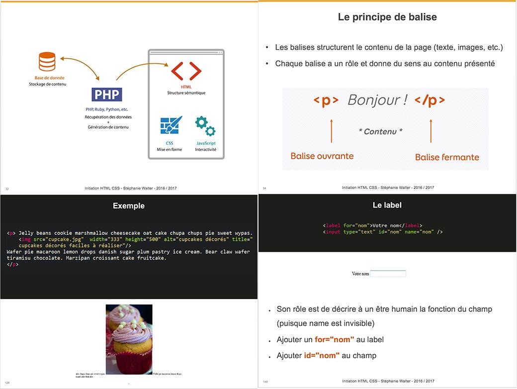 Formation HTML CSS, aperçu du cours d'initiation au HTML