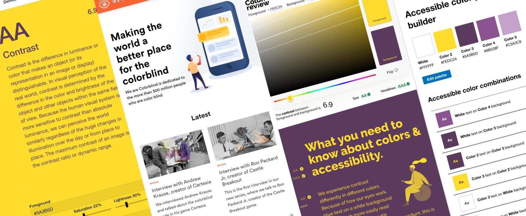 Accessibilité et couleurs : outils et ressources pour concevoir des produits accessibles