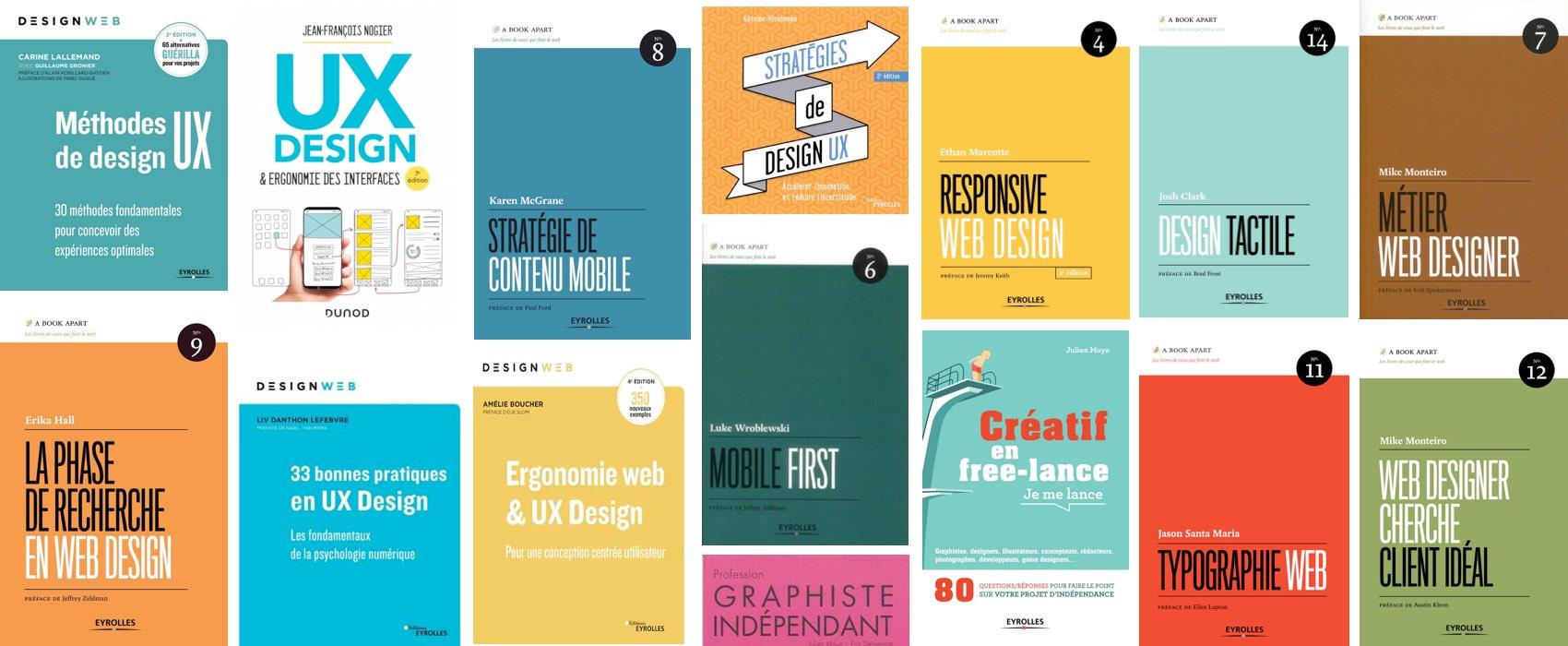 📚 Ma sélection des meilleurs livres sur l'UX Design, la recherche utilisateur, le design mobile, etc.