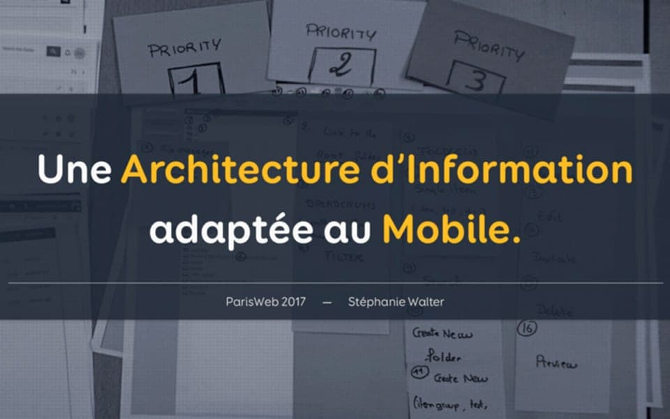 Atelier – Construire Une Architecture d'Information adaptée au Mobile