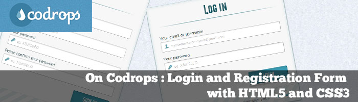 On codrops : Login and Registration Form with HTML5 and CSS3