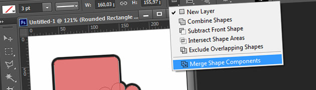 Photoshop CS6 quick tip : Merge Shape Components