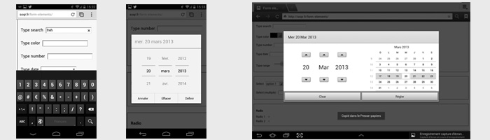 Render of HTML form elements on mobile / tablet : we need you.