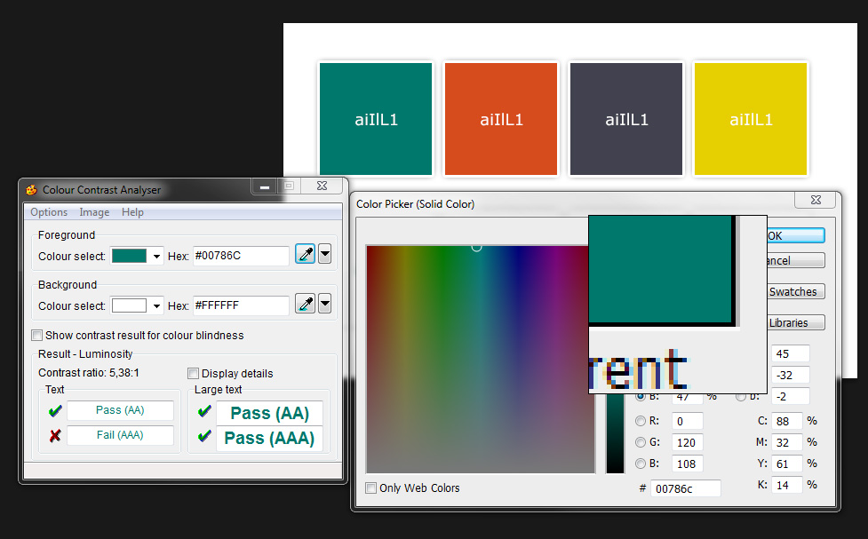 CCA color picker