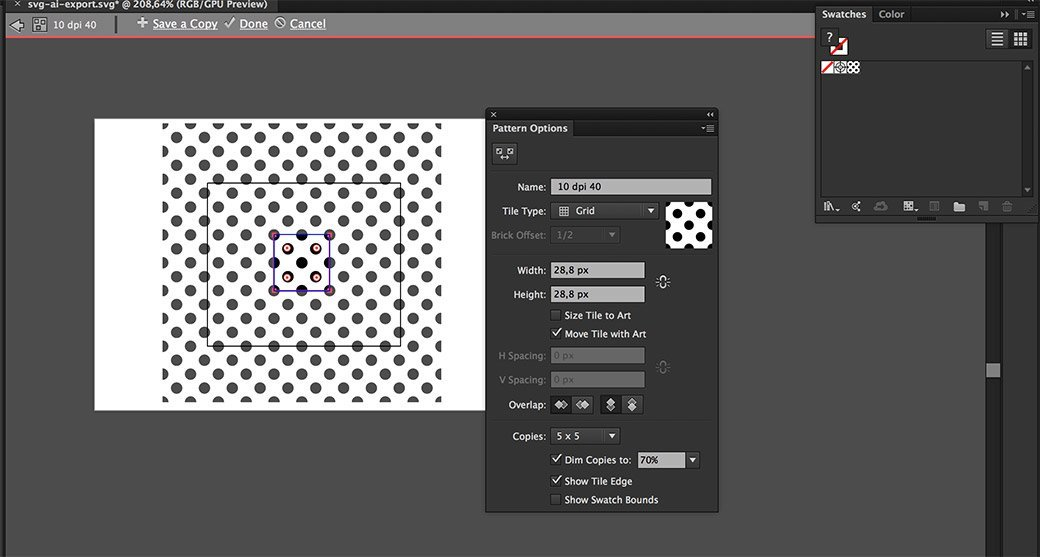 Quick Tip: exporting a SVG with a pattern that works in IE/Edge from
