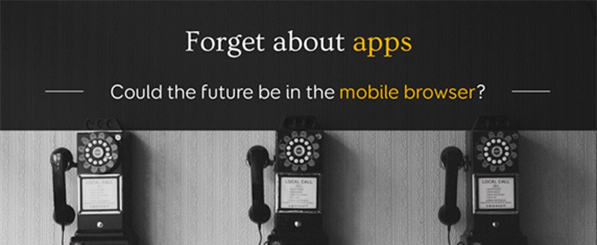 Forget about apps, could the future be in the mobile browser? - My Nightlybuild 2016 Conference