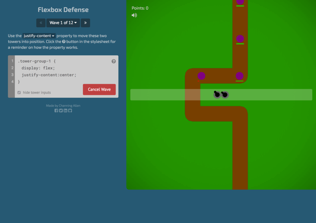Flexbox defense Game