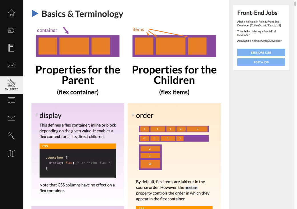 CSS tricks Guide to Flexbox on CSS tricks