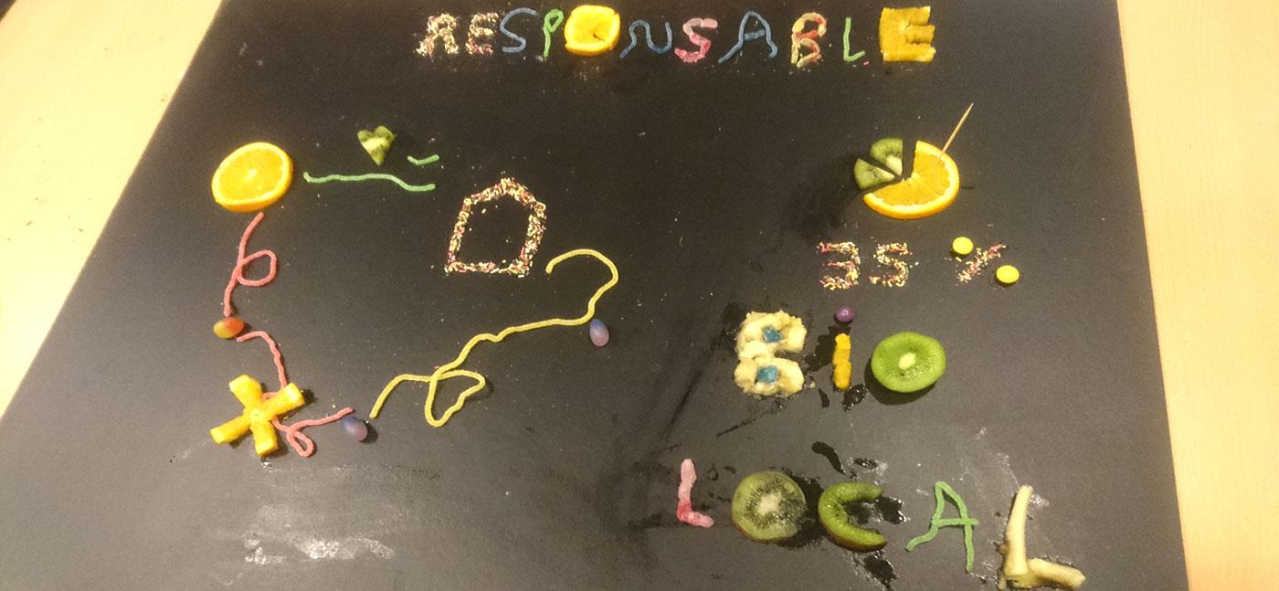 Responsable - notre dataviz faite de bonbons et morceaux de fruits