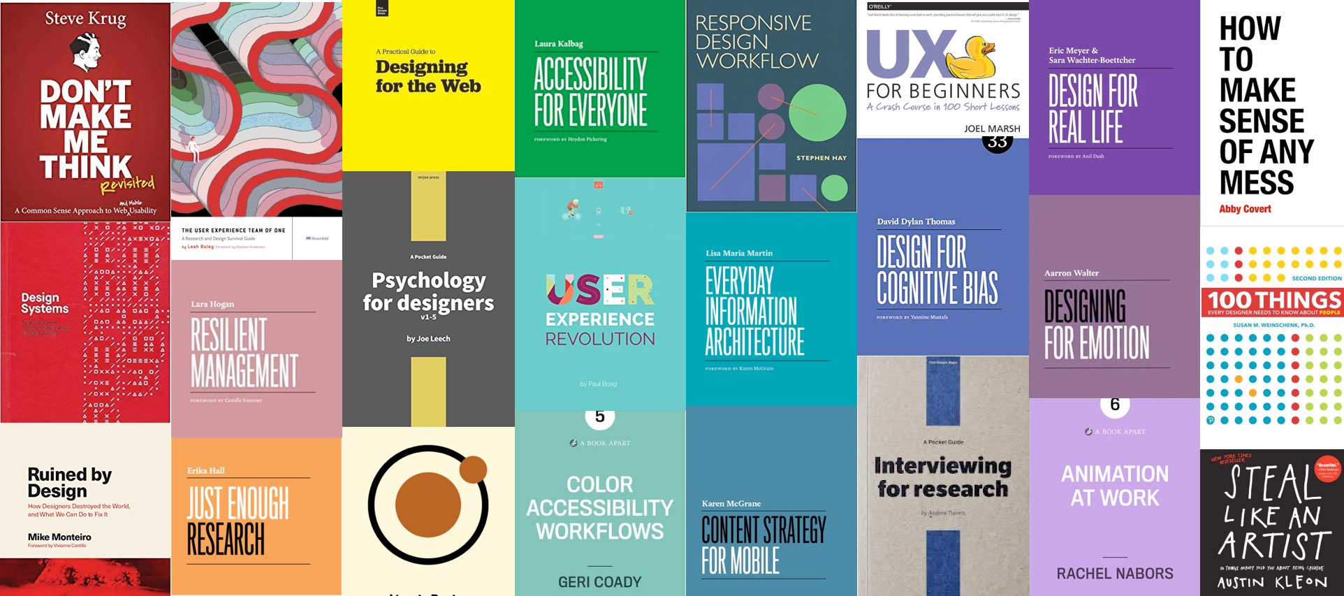 📚 My Selection of the Best Books on UX Research, UX Design, Mobile, Accessibility & more