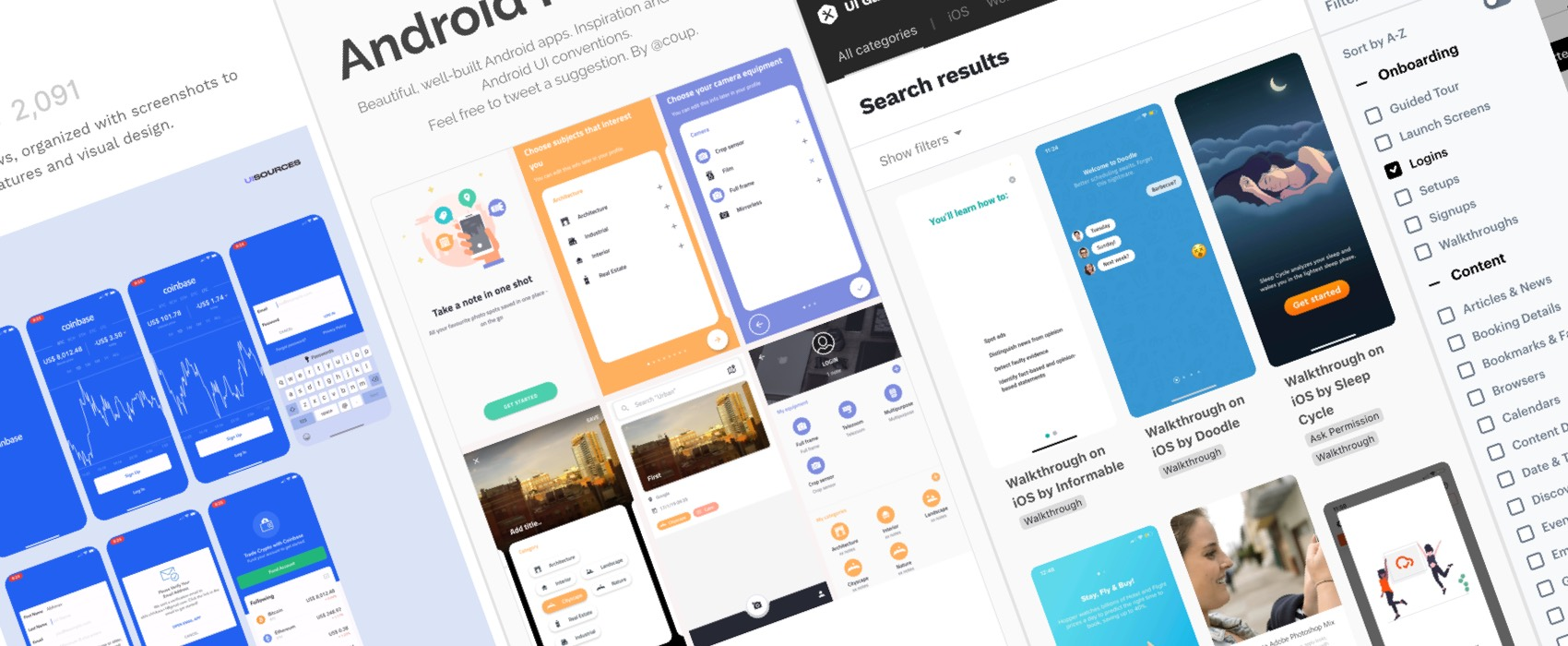 15+ Expert Resources For Mobile UI Inspiration: Patterns, Components and Flows