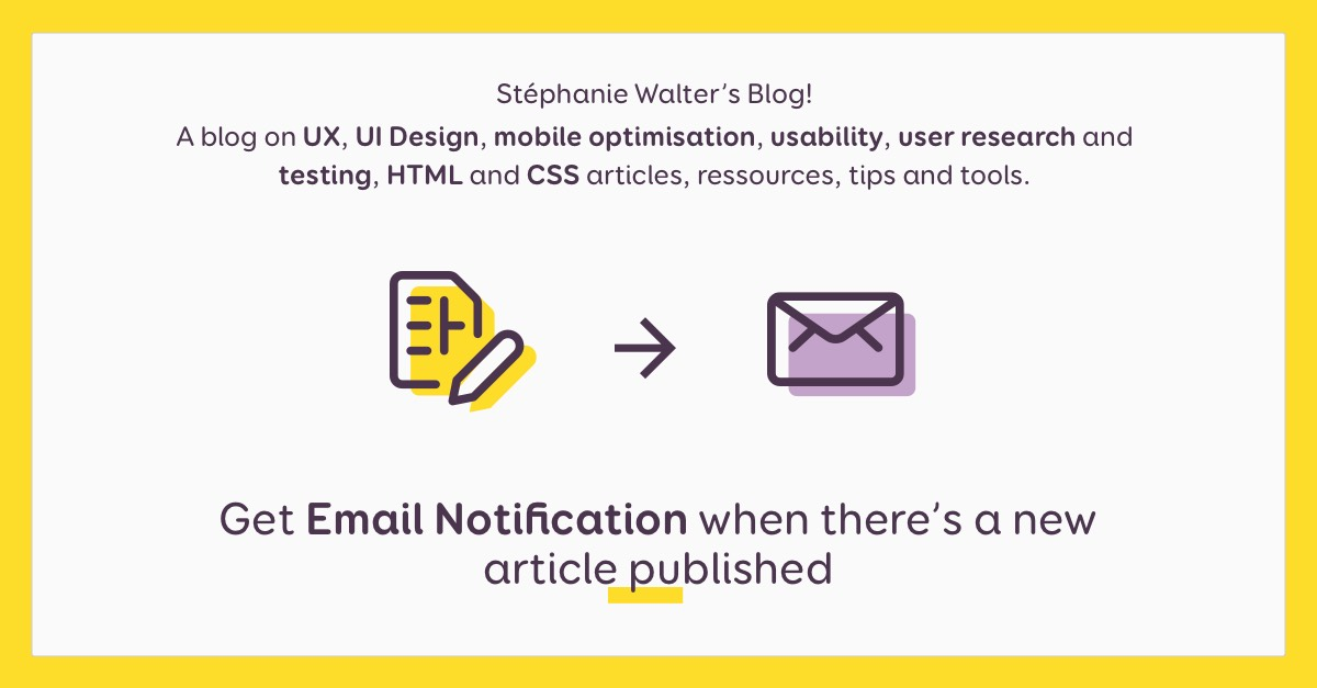 Get Email notificiation when there's a new article published