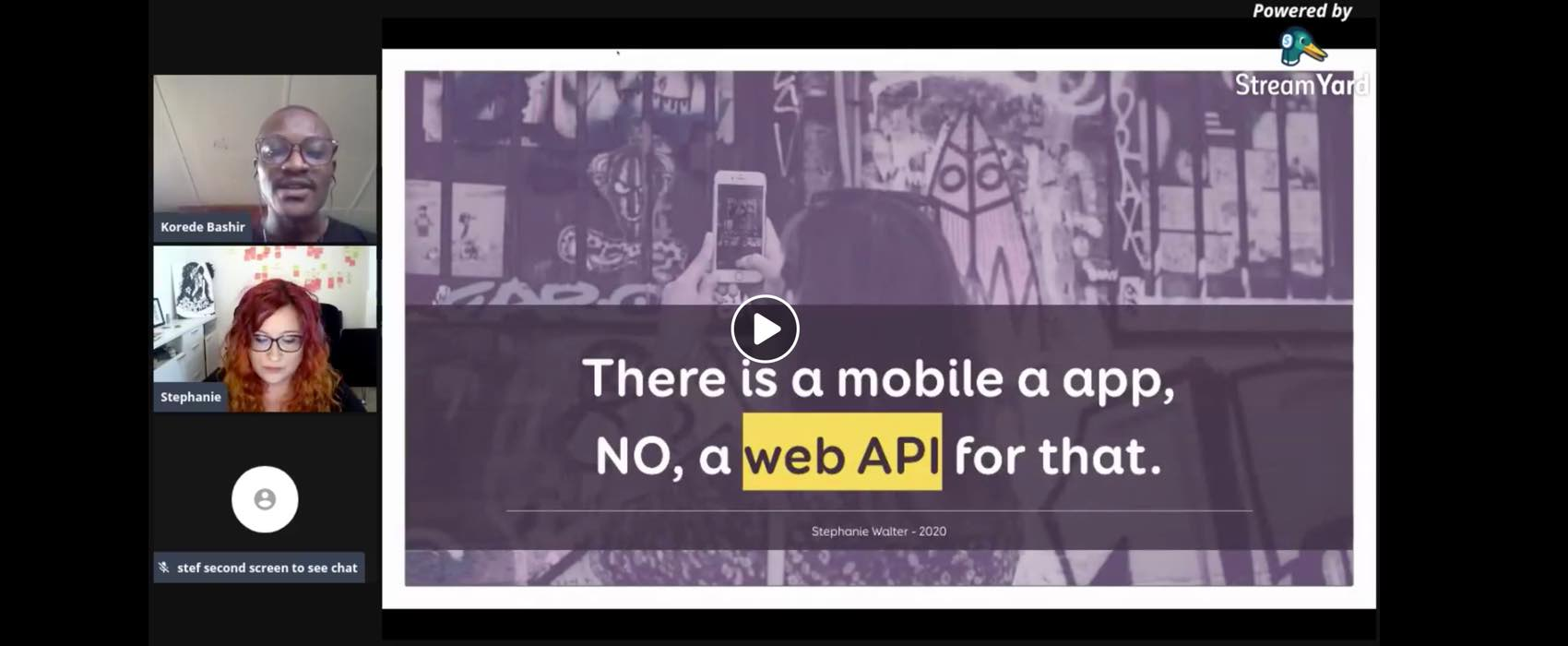 There is an app, NO, a web API for that – conference talk